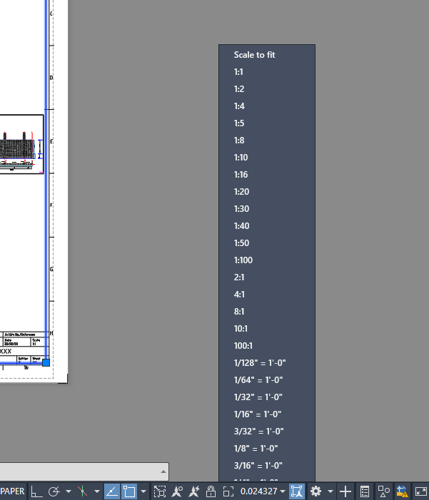 AutoCAD Viewport Scale